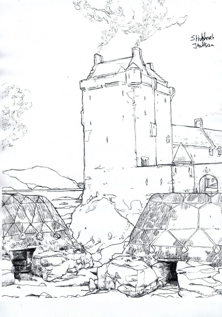 Drawing of Castle Muirn