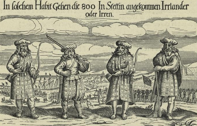 four Highland soldiers in 1631
