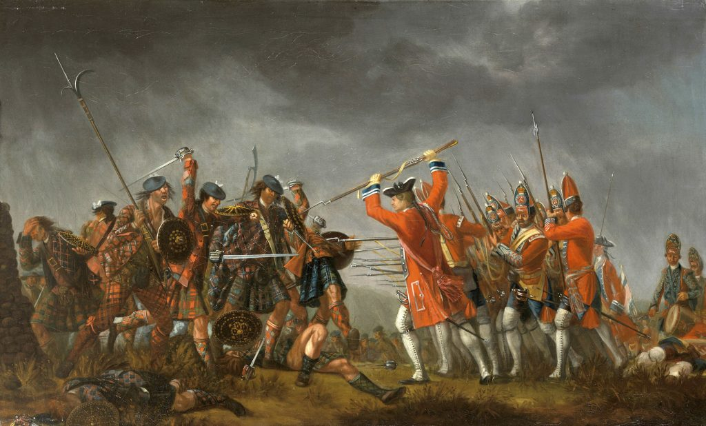 The battle of Culloden 1745 contemporary by David Morier