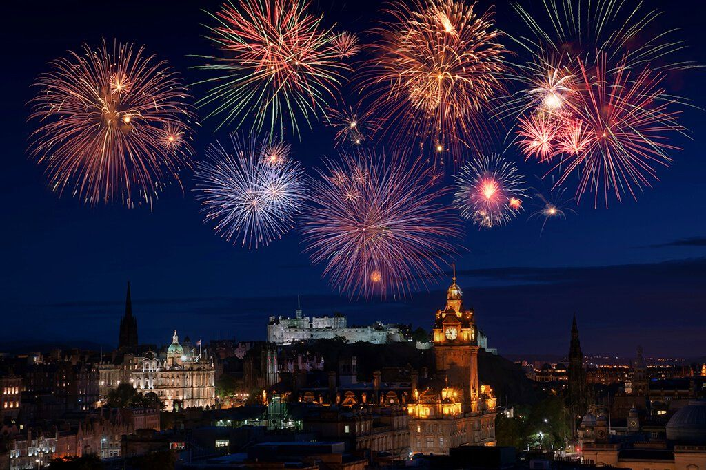Fireworks in Edinburgh