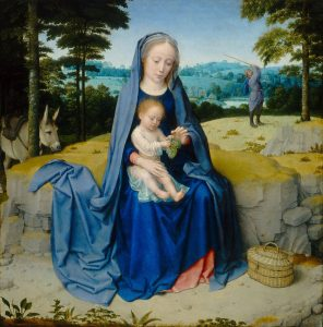 Virgin & child on flight to Egypt