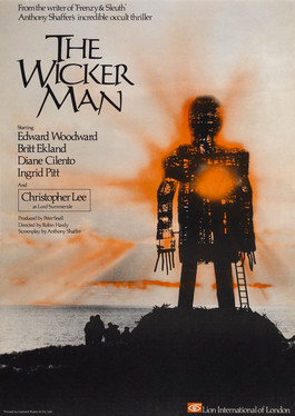 a wicker man supposedly where druids burnt hundreds - from the film