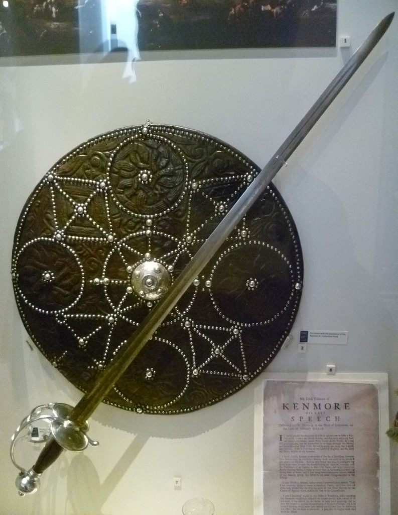 A broadsword and targe or shield