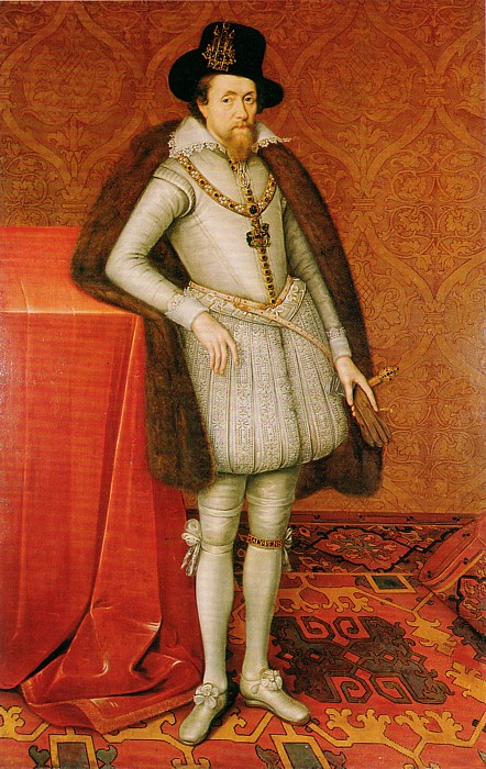 Painting of Jame VI of Scotland and I of Great Britain