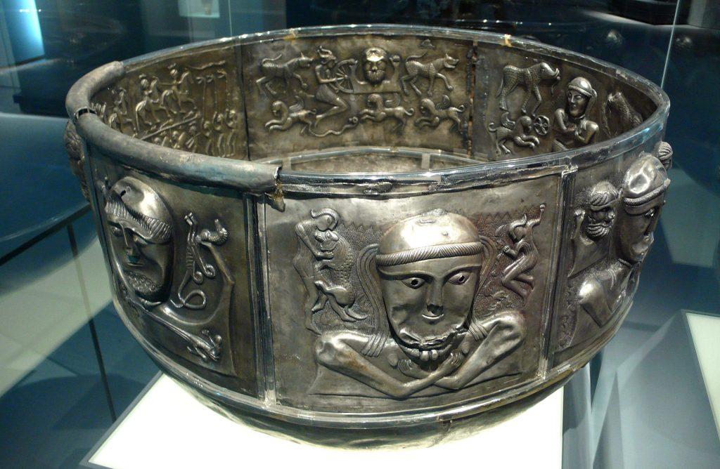 The Gundestrup Cauldron showing scenes of Gaelic Mythology
